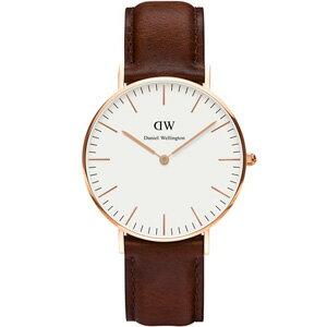 【公司貨】Daniel Wellington DW 瑞典簡約風格 36mm /深棕色/復古 / DW00100035(暢銷款!)