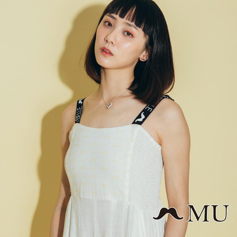 【MU】超美織帶連身寬褲洋裝 8327163 2