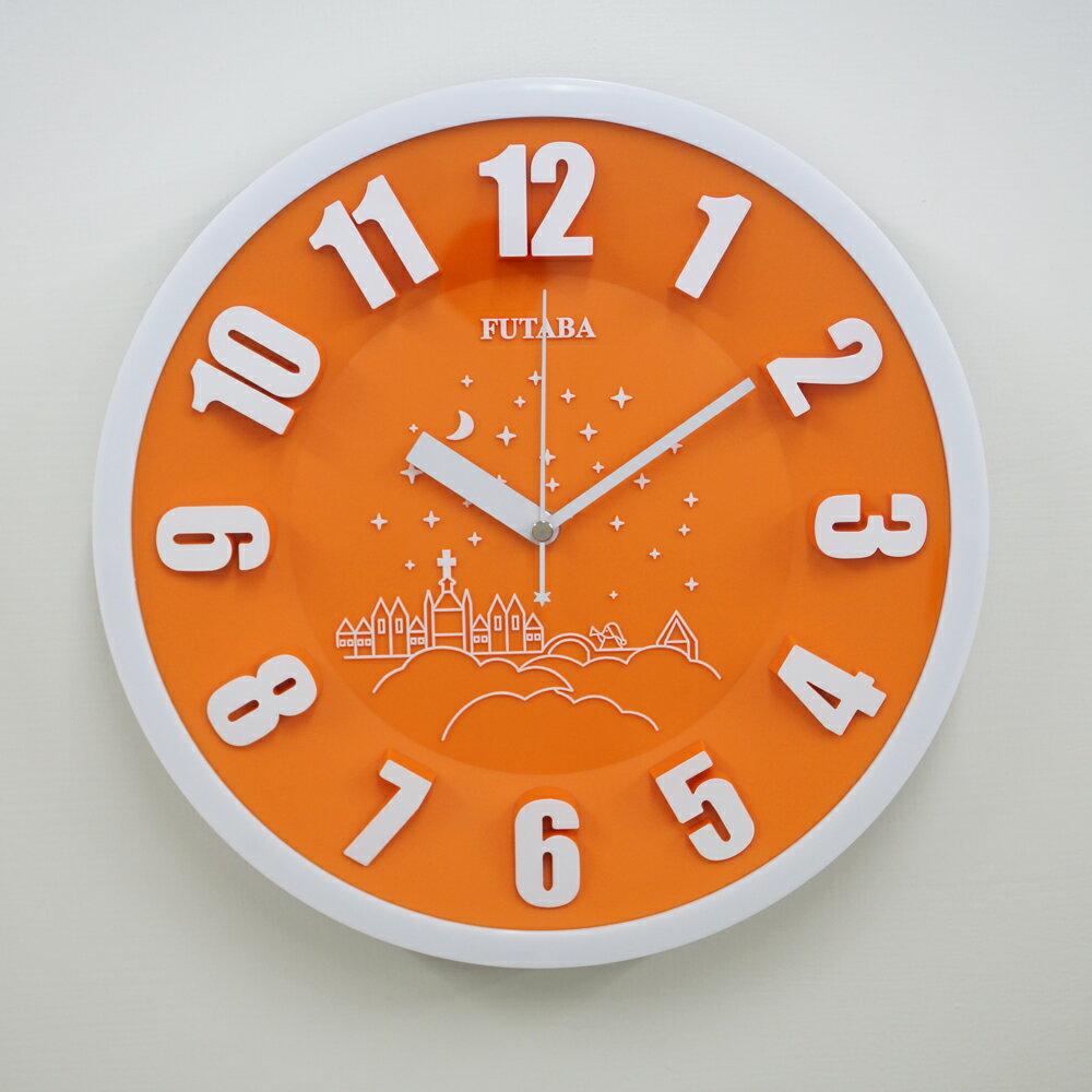 FUTABA-0718 時尚教堂3D立體凸字掛鐘 3