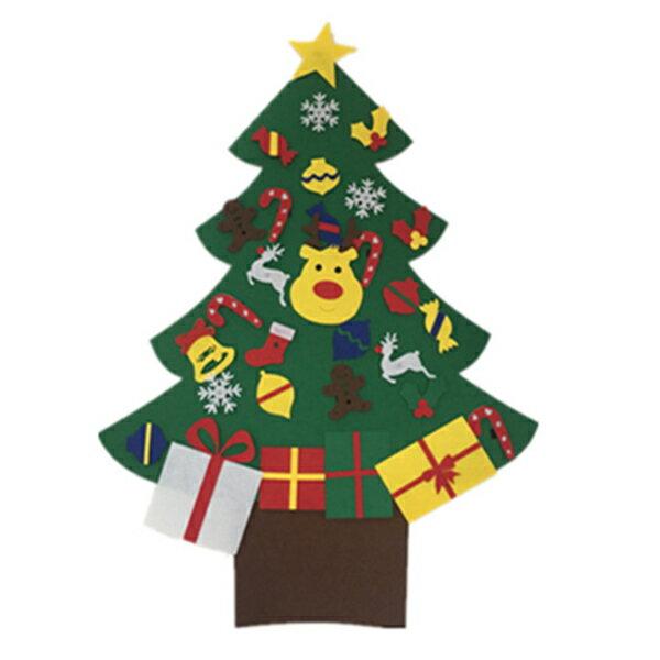 耶誕送禮⛄新款聖誕節 兒童手工益智DIY 立體手工 不織布 聖誕樹【H81134】 5