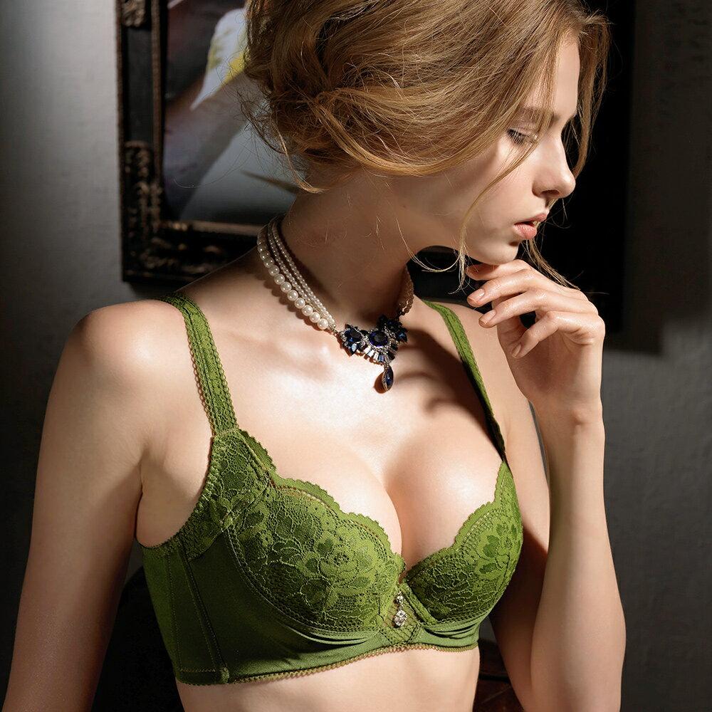 全店免運【Favori】魔力 玫情芬芳E罩杯內衣 (春芽綠) 1