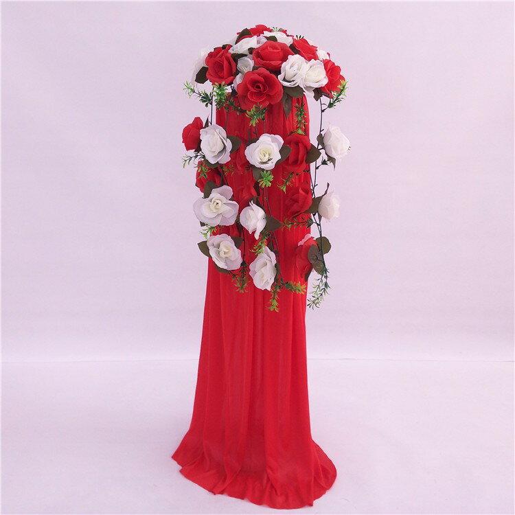 中式婚禮布置結婚花柱花拱門羅馬柱t臺裝飾道具路引婚慶新款2018 3