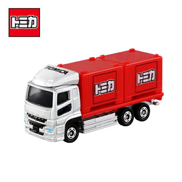 【日本正版】TOMICANO.85三菱FUSOSUPERGREAT貨櫃車卡車玩具車多美小汽車-971986