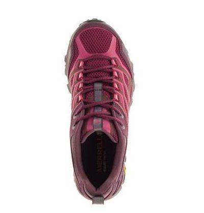 【單筆滿3000元>憑優惠券代碼B7NH-EAUI-TLBS-JXSZ。現打9折│全店10倍點數】MERRELL MOAB FST GORE-TEX 暗紅 女 健行鞋│休閒鞋│運動鞋 7