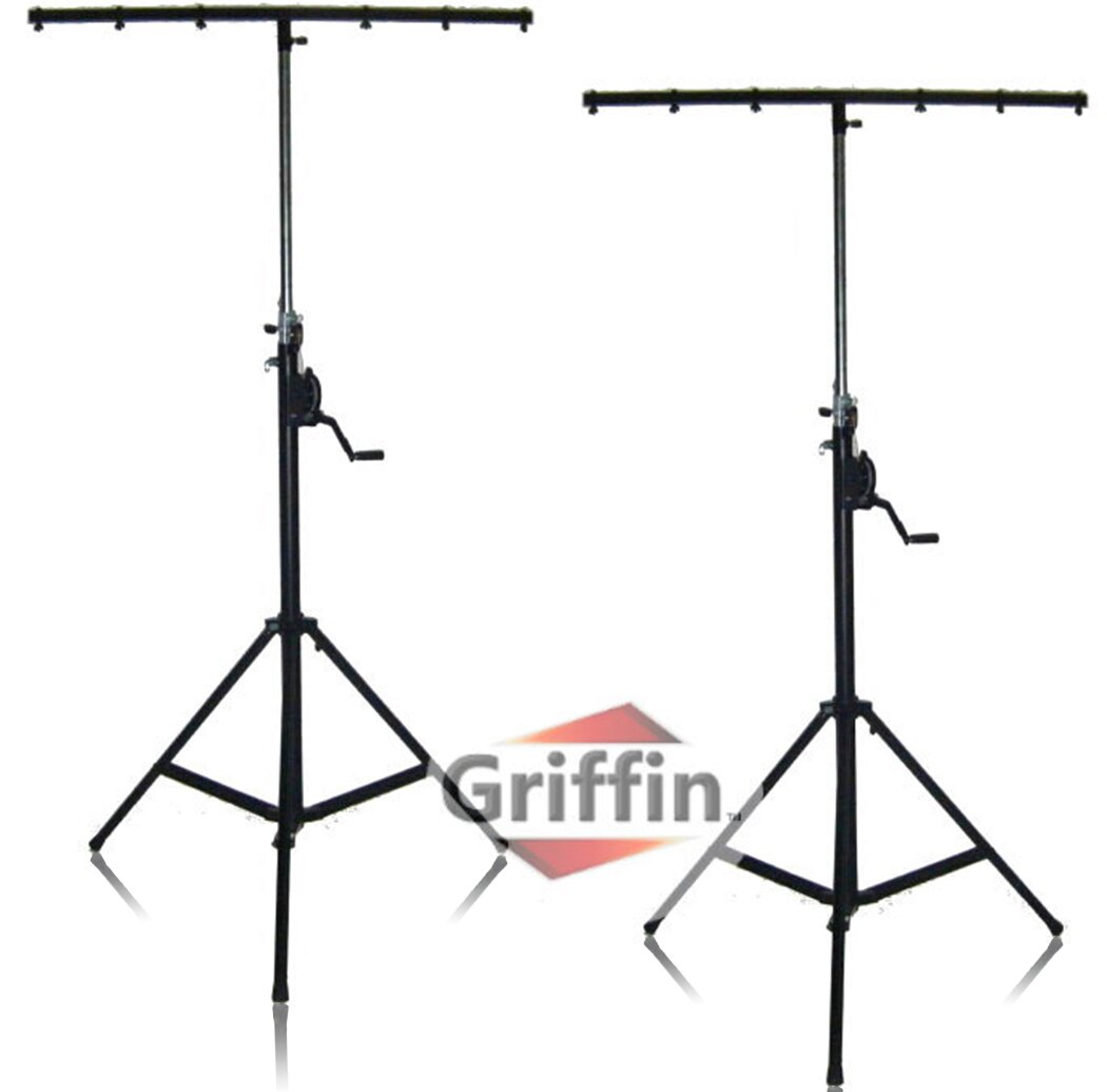 Geekstands Crank Up Dj Light Stands 2 Pack Stage Lighting Truss System By Griffin Portable Speaker Tripod Heavy Duty Standing Rig