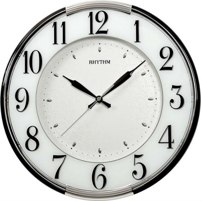 大高雄鐘錶城 RHYTHM 麗聲鐘(CMG527) 貝殼印紋圓形掛鐘/ 33.8cm