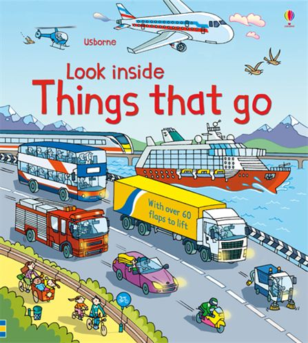 英國 Usborne 翻翻書 look inside Things that go 神奇的交通工具*夏日微風*