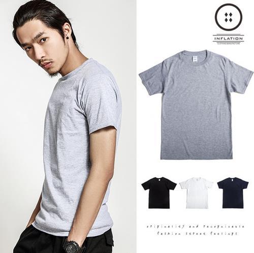 50^%OFF~N05944C~筒無縫短袖T恤 純棉純色文化衫定制 GD EXO SHIN