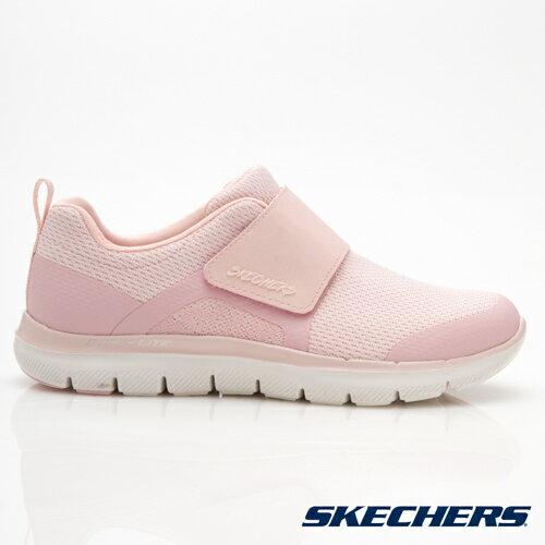 SKECHERSFLEXAPPEAL2.0女鞋訓練健走記憶鞋墊魔鬼氈柔軟舒適粉【運動世界】12898LTPK