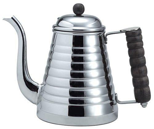 【沐湛咖啡】日本進口Kalita Wave木柄鶴嘴壺/手沖壺 不銹鋼1.0L 電磁爐加熱