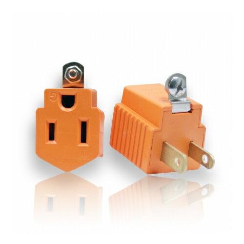 三轉二電源轉接插頭(1入)AC110V15A1650W3轉2家用電源轉接頭居家電源轉接器電源轉換器