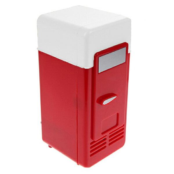 USB迷你冰箱 保冰保冷 小冰箱 復古造型 迷你 電冰箱 迷你冰箱 冷熱兩用 夏天保冰 冬天保溫(20-535) 1