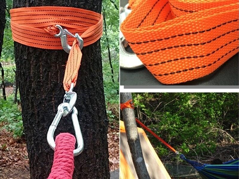 【珍愛頌】A176吊床專用綁繩 綁帶 3.3米 強力掛勾 2PCS/1組 戶外 露營 野餐 野營 民宿 弔床 釣床