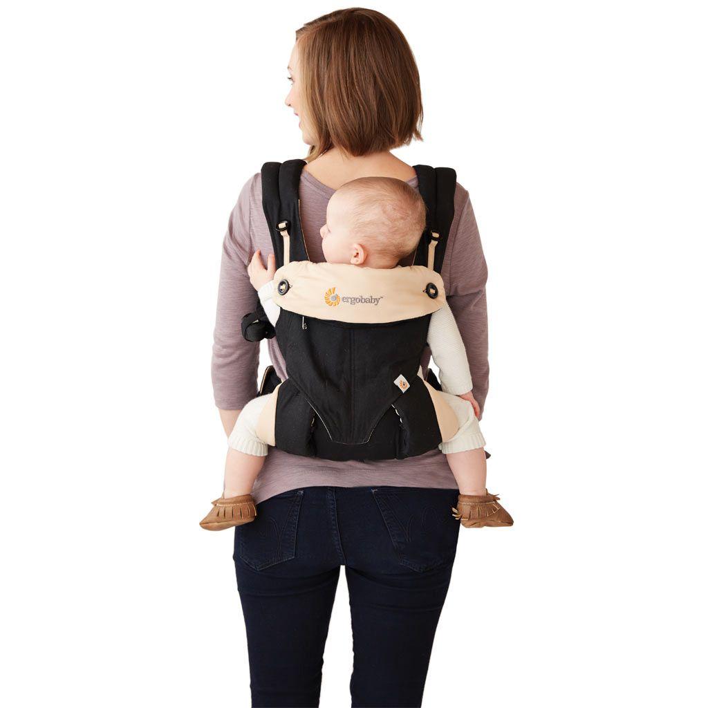 美國【Ergo baby】360度 嬰兒揹帶-黑駝色 2