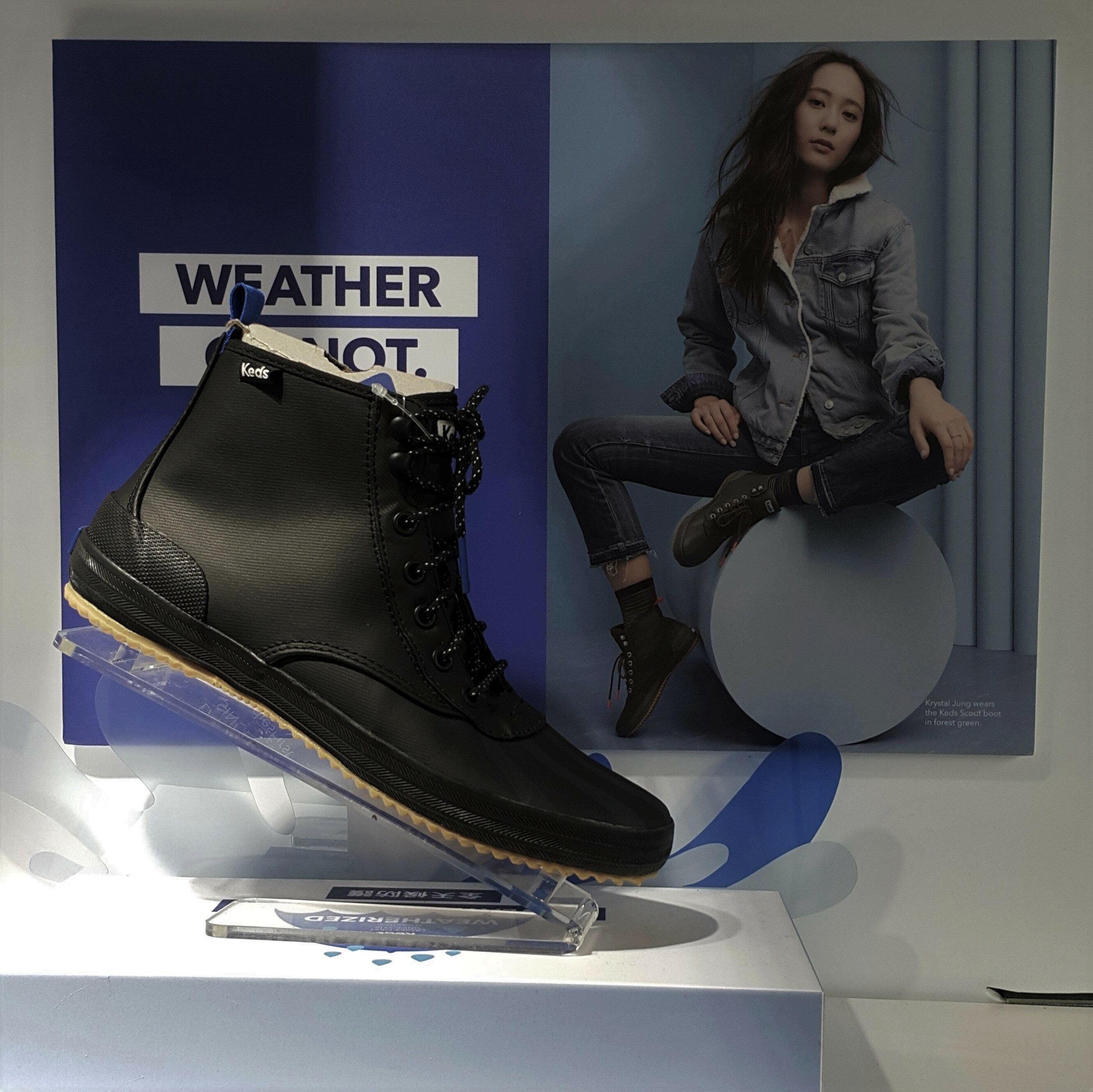 Keds SCOUT 雨靴 雨鞋 軍靴 靴款 高筒 防水 防潑水 黑色 Krystal 鄭秀晶 限時贈送Keds購物袋 送完為止