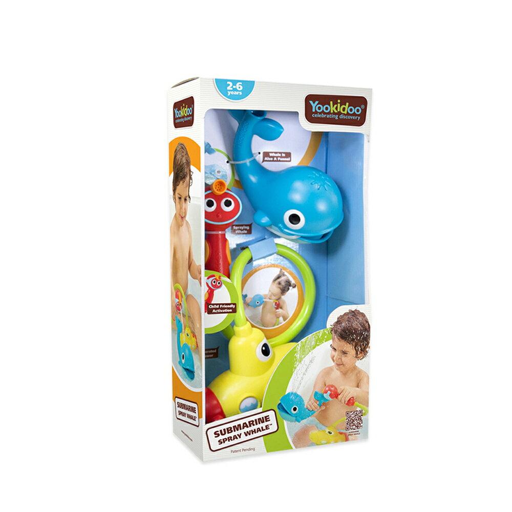 Yookidoo 以色列 洗澡玩具/ 戲水玩具 - 噴水鯨魚蓮蓬頭套組