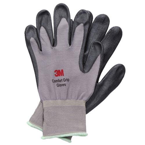 3M亮彩舒適型止滑耐磨手套灰色M
