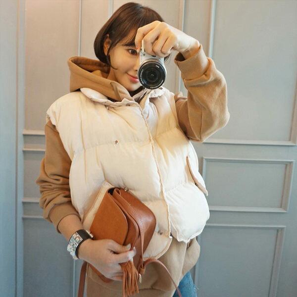 PS Mall 復古百搭保暖無袖馬甲背心 上衣 【T1919】 - 限時優惠好康折扣