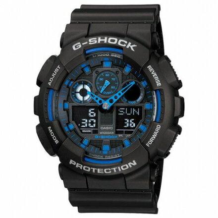 G-SHOCKGA-100-1A2時尚潮錶GA-100-1A2DR個性現貨!藍色【迪特軍】