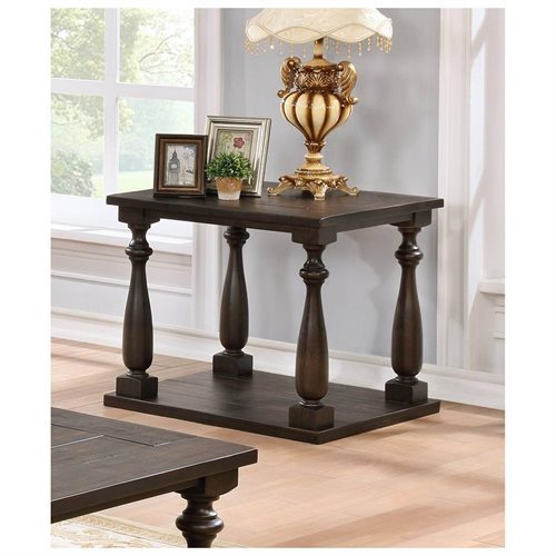 YU203 Yamhill Cappuccino Living Room End Table