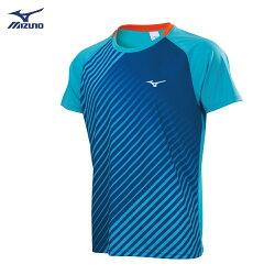 Slim FIT合身版型 男款羽球短袖T恤 72TA850119(天藍)【美津濃MIZUNO】