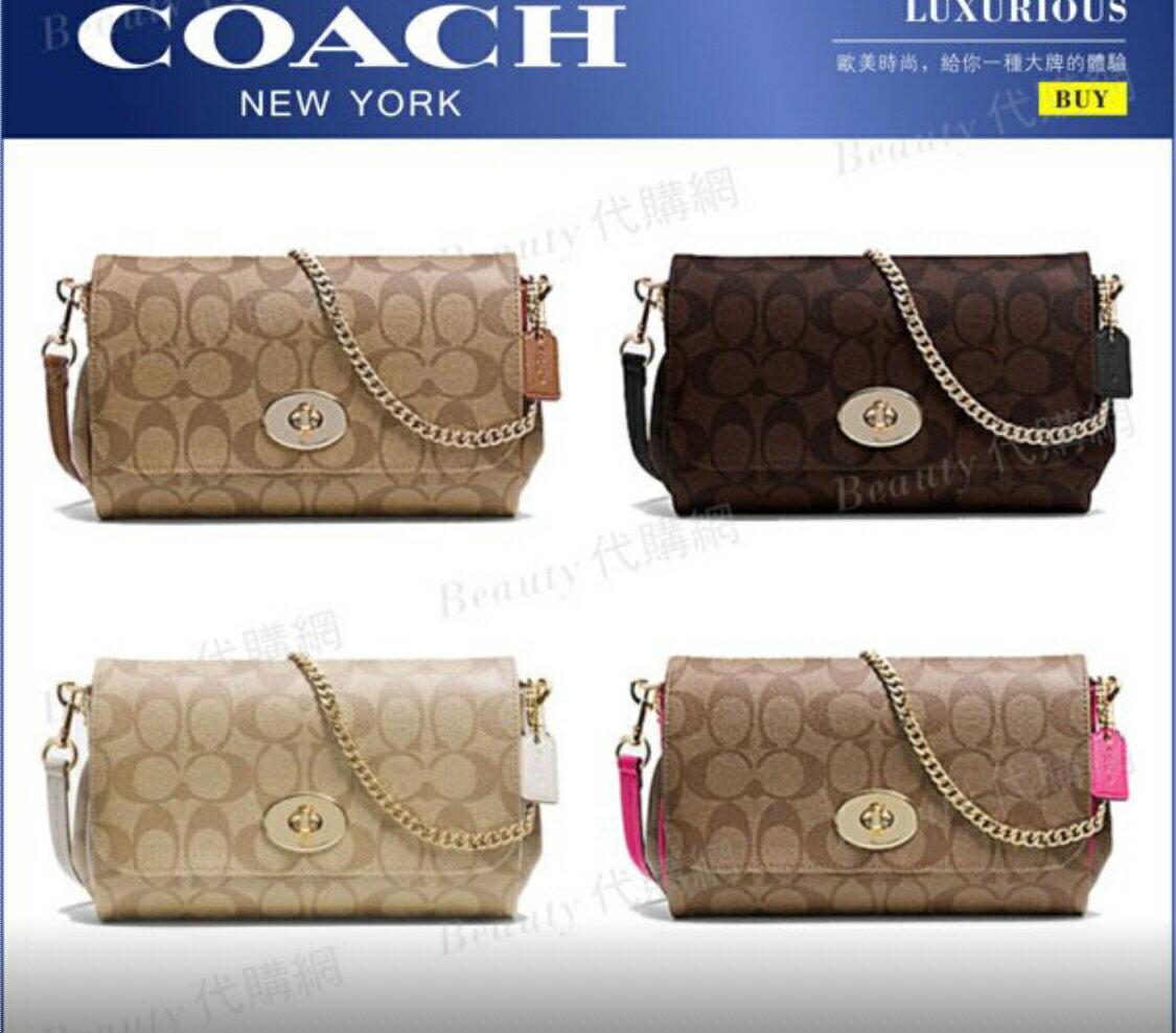 *vivi shop*美國正品COACH 單肩包 晚宴包 側背包 F34615 女士PUV皮革-限量特惠 (附購證手袋)