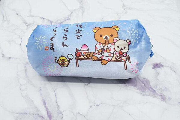 X射線【C212404】懶熊Rilakkuma 公主化妝包-夏天煙火,鉛筆盒  筆盒  筆袋  筆筒  文具  收納