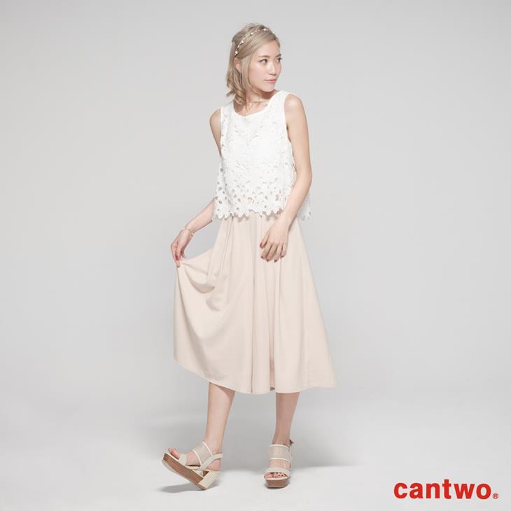 cantwo鏤空蕾絲無袖連身褲(共二色) 1