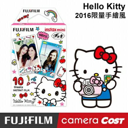 FUJIFILM Instax mini 拍立得底片 2016 Kitty 手繪風 底片 - 限時優惠好康折扣