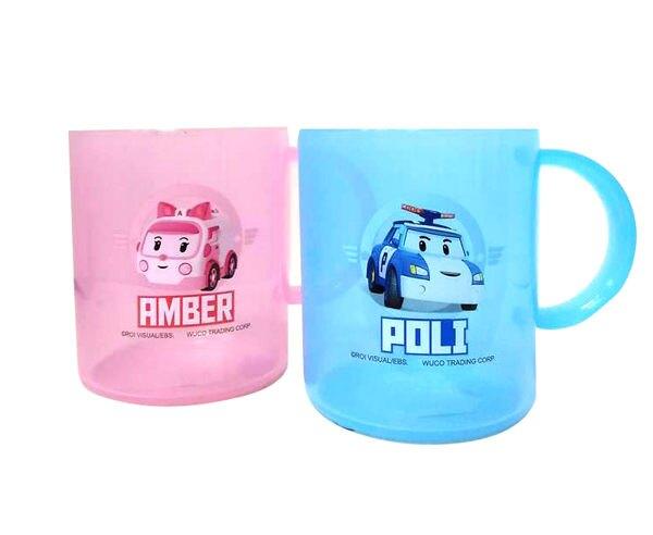 POLI 波力救援小英雄 兒童水杯/漱口杯 240ml (藍、粉)『121婦嬰用品館』