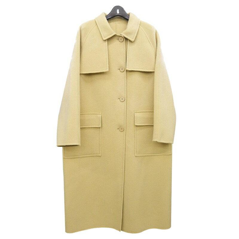 毛呢大衣羊毛外套-長版純色單排扣寬鬆女外套2色73wb47【獨家進口】【米蘭精品】 0