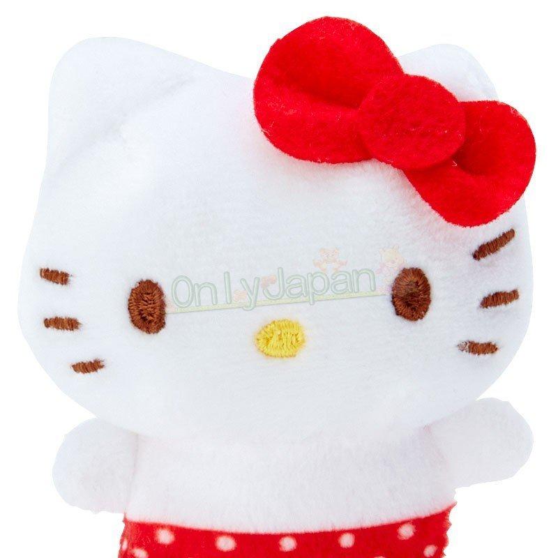 【真愛日本】4901610302804 絨毛手玉娃-KT紅ED91 凱蒂貓kitty 絨毛娃 手玉娃 娃娃 布偶 擺飾 收藏 禮物 2