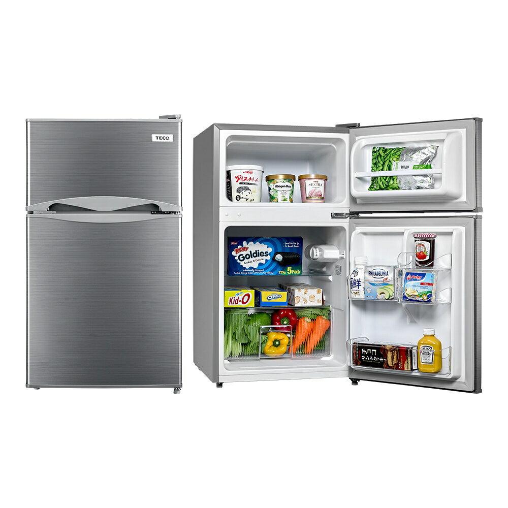 東元 TECO 100公升雙門小冰箱 R1001S