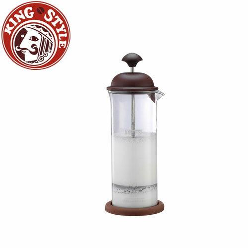 金時代書香咖啡 Tiamo 玻璃奶泡杯 400ml 附底墊