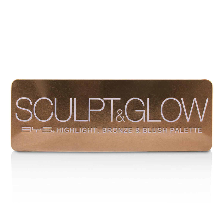 BYS - 修容腮紅打亮三色盤 Sculpt & Glow Palette (打亮, 修容和腮紅)