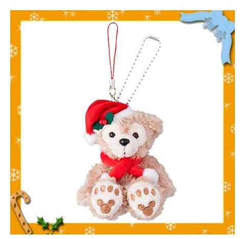 X射線【C170008】日本東京迪士尼代購-2016聖誕節限定 Duffy達菲娃娃吊飾,包包掛飾/鑰匙圈/雪莉玫/達菲/畫家