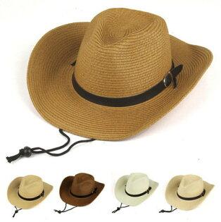 草帽皮帶釦牛仔帽爵士帽可折疊大帽簷遮陽男帽草帽【JNZ0001】BOBI0412