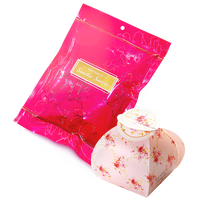 分享幸福的婚禮小物推薦喜糖_餅乾_伴手禮_糕點推薦婚禮小物-甜心喜糖袋+幸福玫瑰粉紅喜糖盒組合