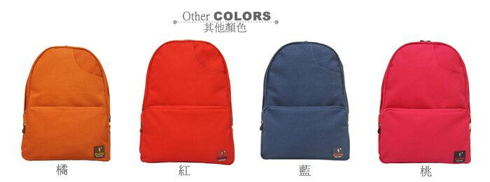 CORRE【CG71068】帆布經典後背包共四色 紅/藍/桃紅/橘 1