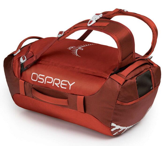 【鄉野情戶外用品店】 Osprey |美國| Transporter40 行李袋/裝備袋 多用途旅行背包-競賽紅/Transporter40 【容量40L】