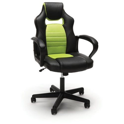 Essentials by OFM Racing Style Gaming Chair, Green 0