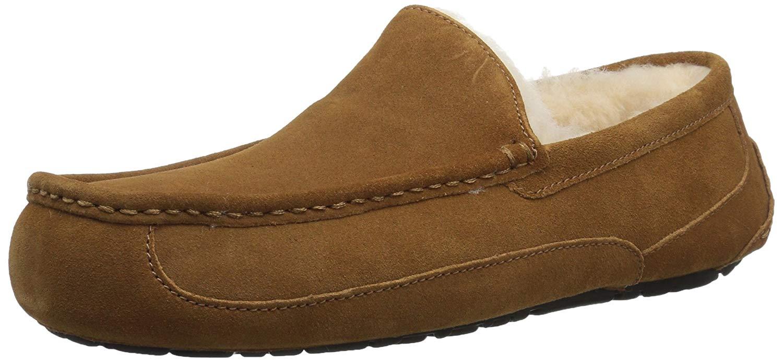 76e21793fc8 UGG Australia Mens Ascot Closed Toe Slip On Slippers, Chestnut, Size 8.0