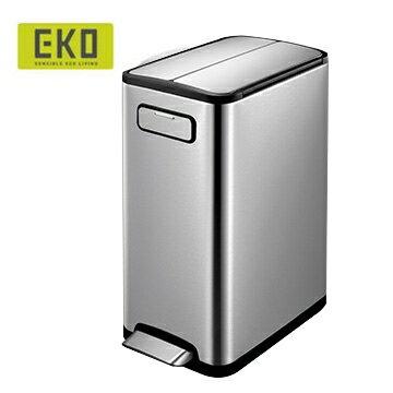 EKO 蝶韻緩降靜音不鏽鋼垃圾桶 20L大容量