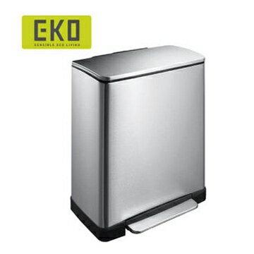 EKO 逸酷緩降靜音不鏽鋼垃圾桶 20L大容量