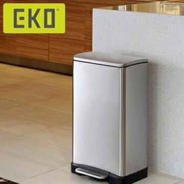 EKO 逸酷緩降靜音不鏽鋼垃圾桶 20L大容量 1
