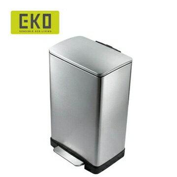 【台灣獨家總代理 熱銷大容量】 EKO 逸酷緩降靜音不鏽鋼垃圾桶 20L  x1 2