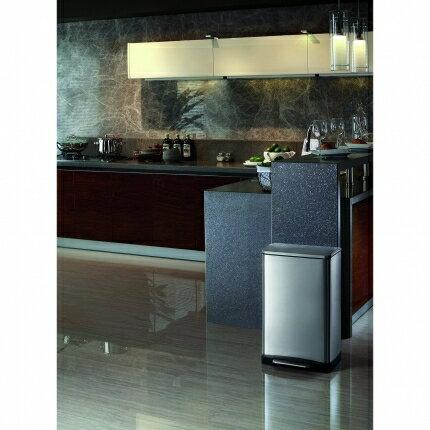 【台灣獨家總代理 熱銷大容量】 EKO 逸酷緩降靜音不鏽鋼垃圾桶 20L  x1 4