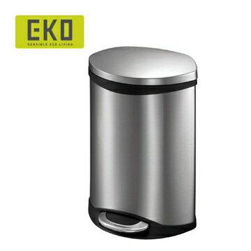 【HOME WORKING】EKO 海貝靜音垃圾桶-6L (三色可選)
