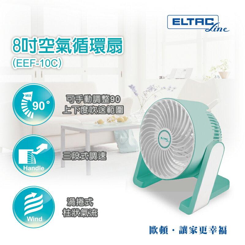 旺德 ELTAC 歐頓 8吋空氣循環扇 EEF-10C 渦捲式柱狀氣流
