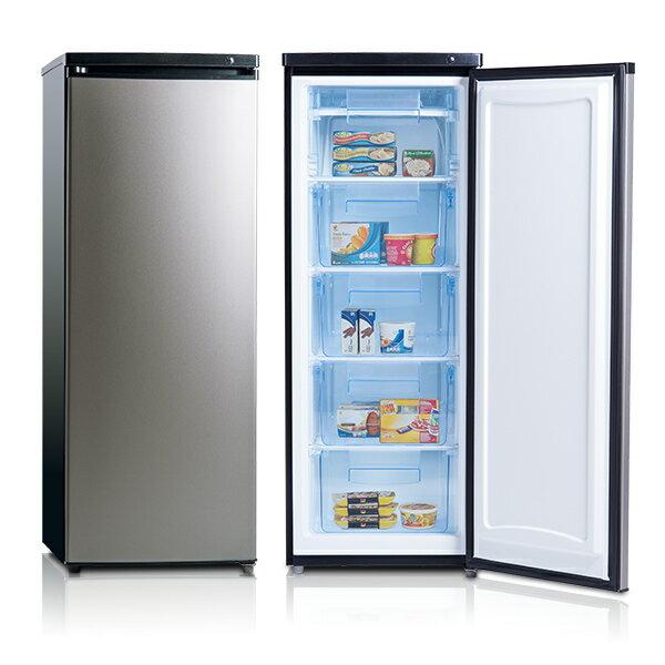 美國富及第 Frigidaire FRT~1855MZ 立式185公升冷凍櫃 黑銀◆超節能